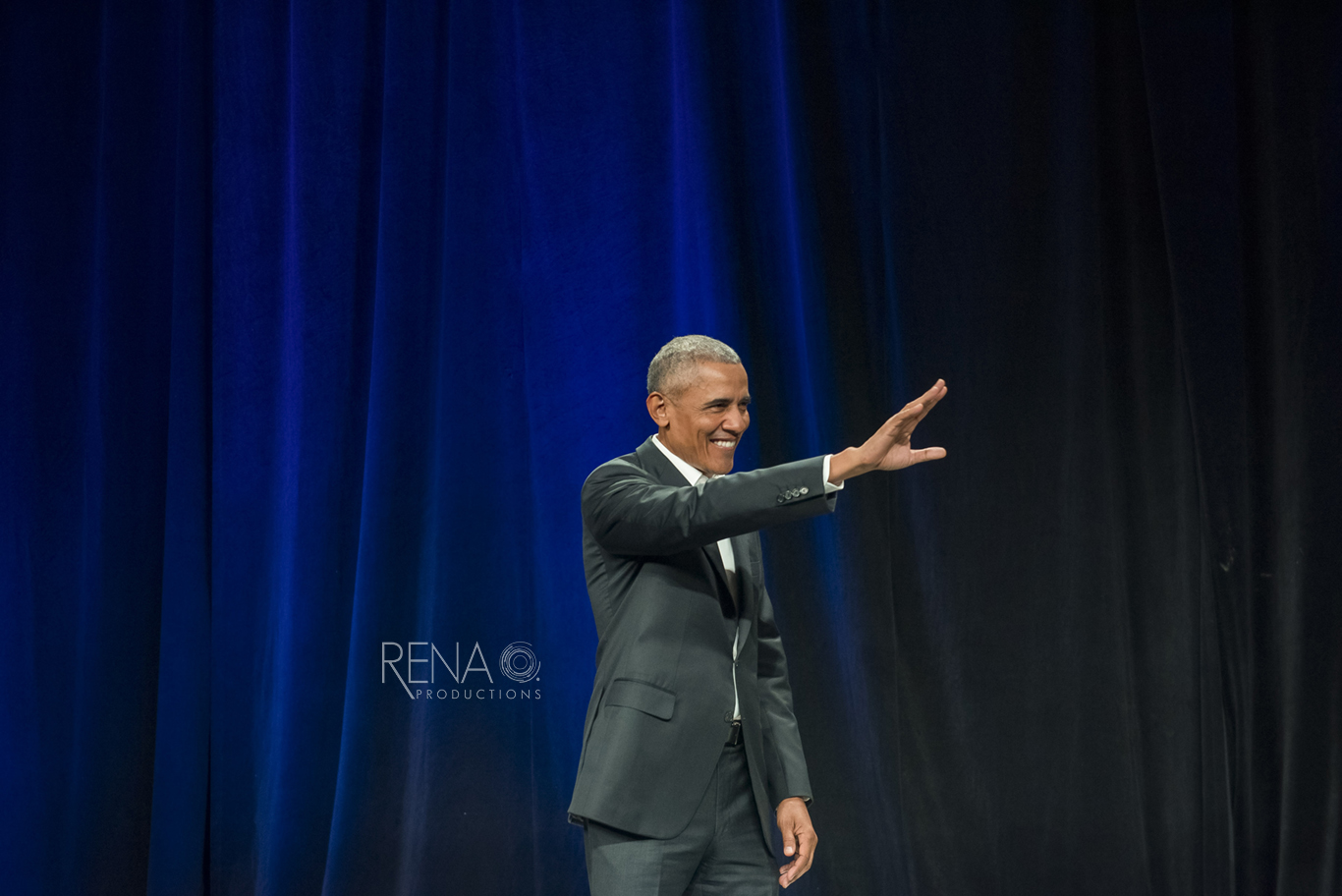 Obama speaking at a conference
