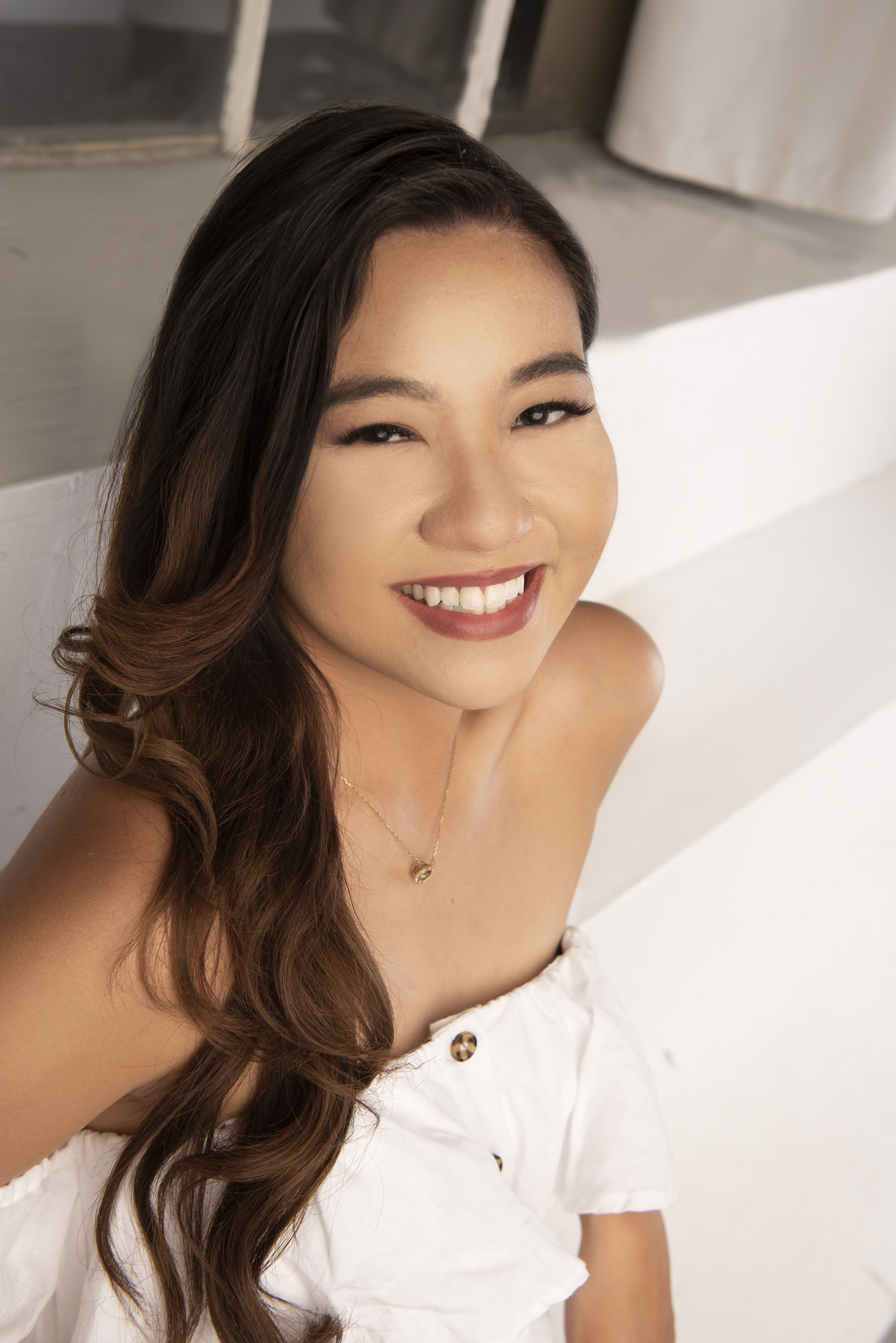 Actress during a professional headshot session in Los Angeles