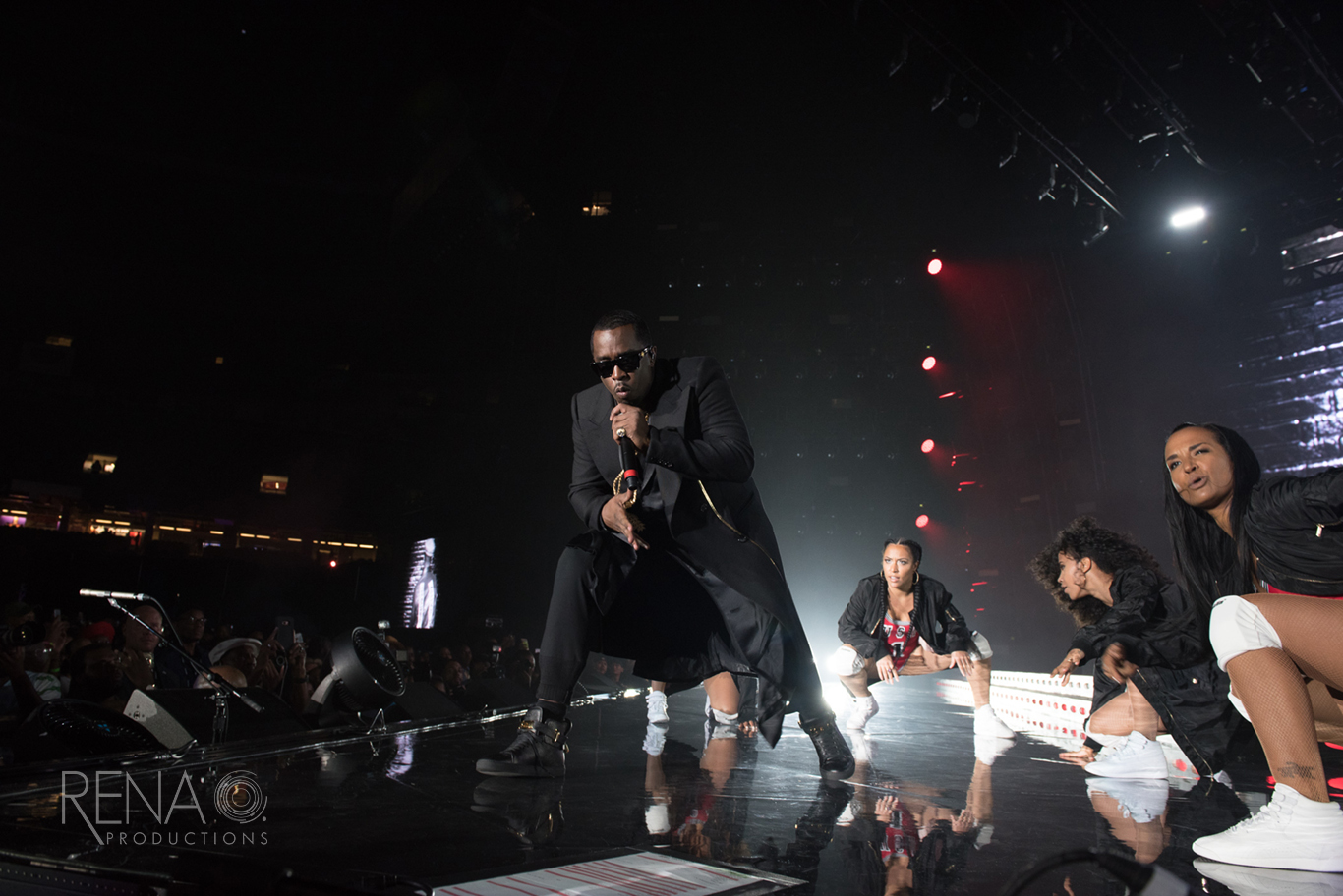 Diddy performing at Essence Festival