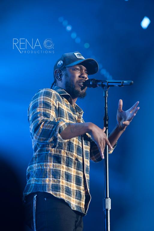 Kendrick Lamar performing at Men's Final Four Music Fest