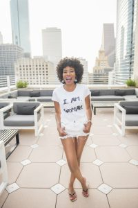 Influencer shoot on downtown rooftop with los lifestyle angeles photographer